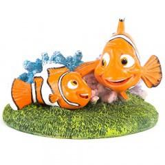 Figura Nemo y Marlin adorno acuarios
