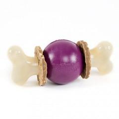 Bouncy bone Hueso con pelota mordedor portagolosinas