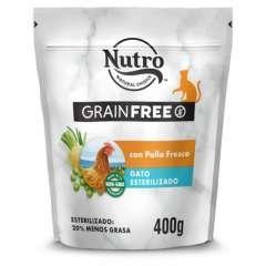 Nutro Grain Free Esterilizado con pollo para gatos