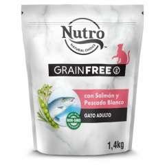 Nutro Grain Free pienso para gatos con salmón y pescado blanco