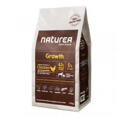 Pienso con pollo para cachorros Naturea Growth Chicken