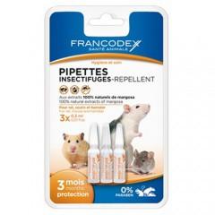 Pipetas antiparasitarias naturales para roedores Francodex