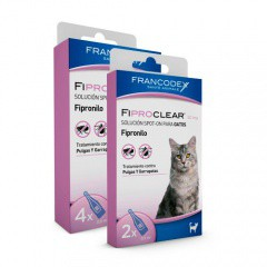 Pipetas antiparasitarias para gatos Fiproclear