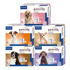 Pipetas para perros Effitix antiparasitarias