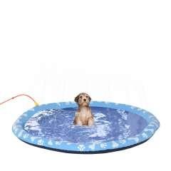Piscina con aspersor de juegos de agua para perros color Azul