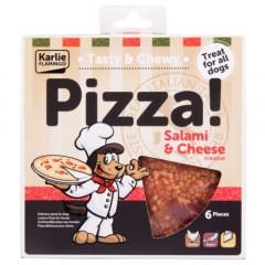 Pizza para perros de salchichón y queso