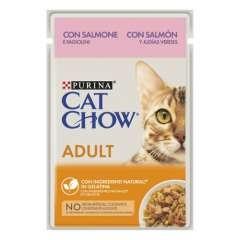 Purina Cat Chow salmón en gelatina para gatos