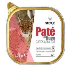 Tarrina de Paté Salvaje con buey para gatos