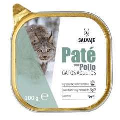 Tarrina de Paté Salvaje con pollo para gatos