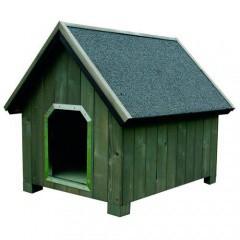 Caseta de madera para perros Alpine Gris