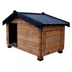 Caseta de madera con porche para perros Mountain Madera