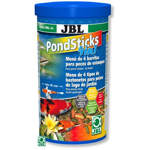 Jbl pond sticks 4 en 1 alimento completo para peces de for Comida para peces de estanque