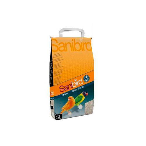 Sanibird sand absorbent for birdcages 5 litres.