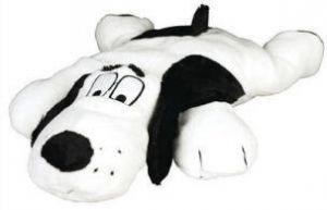 Peluche de perro para almohadilla calefactora sin cables