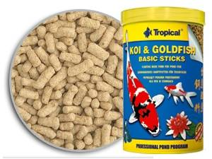 Tropical koi goldfish basic sticks tiendanimal for Carpas ornamentales